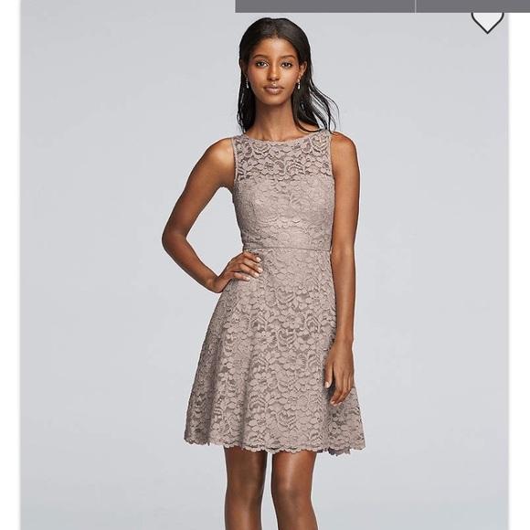 a3408c11df6 David's Bridal Dresses | Davids Bridal Short Lace Bridesmaid Dress ...